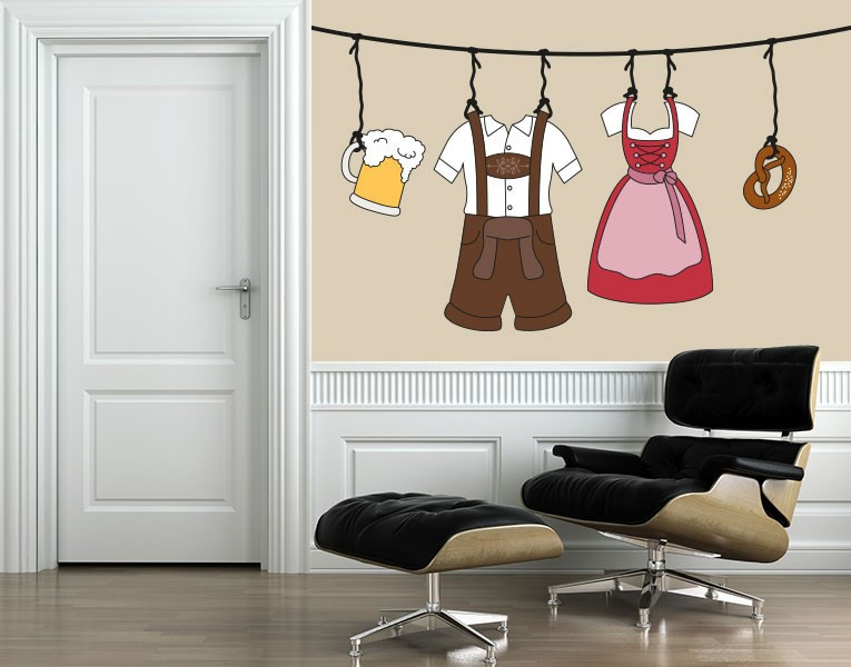 oktoberfest deko die wiesn bei dir zuhause. Black Bedroom Furniture Sets. Home Design Ideas