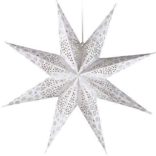 dekohaenger-stern-silber-9-zacken