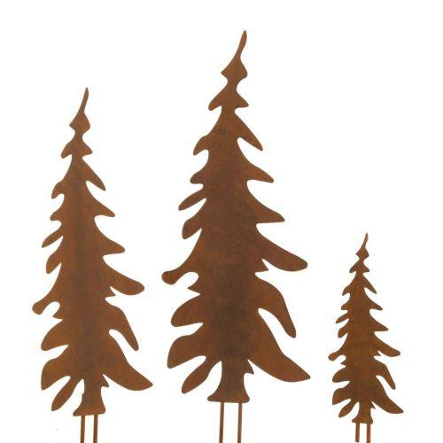 gartenstecker-set-tannenbaum-rost-3-tlg