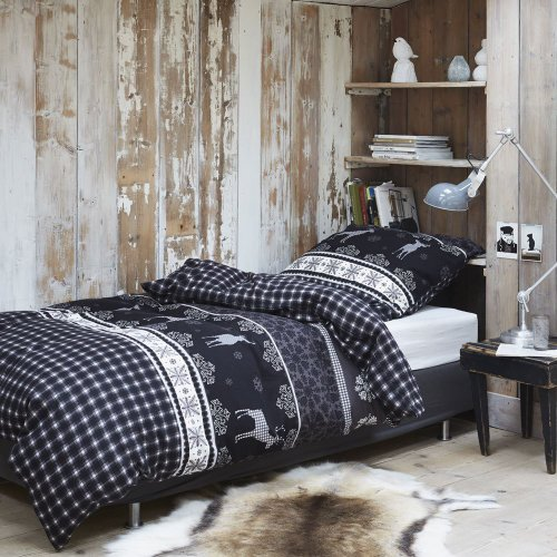 venecia bettwaesche biber flanell snowflake 80x80 cm 135x200 cm. Black Bedroom Furniture Sets. Home Design Ideas