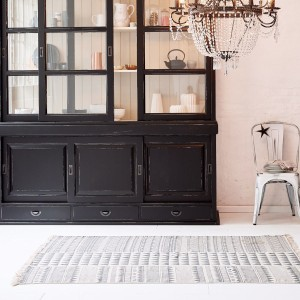 Bild: Teppich Triangel 120x180cm, Baumwolle von miaVILLA
