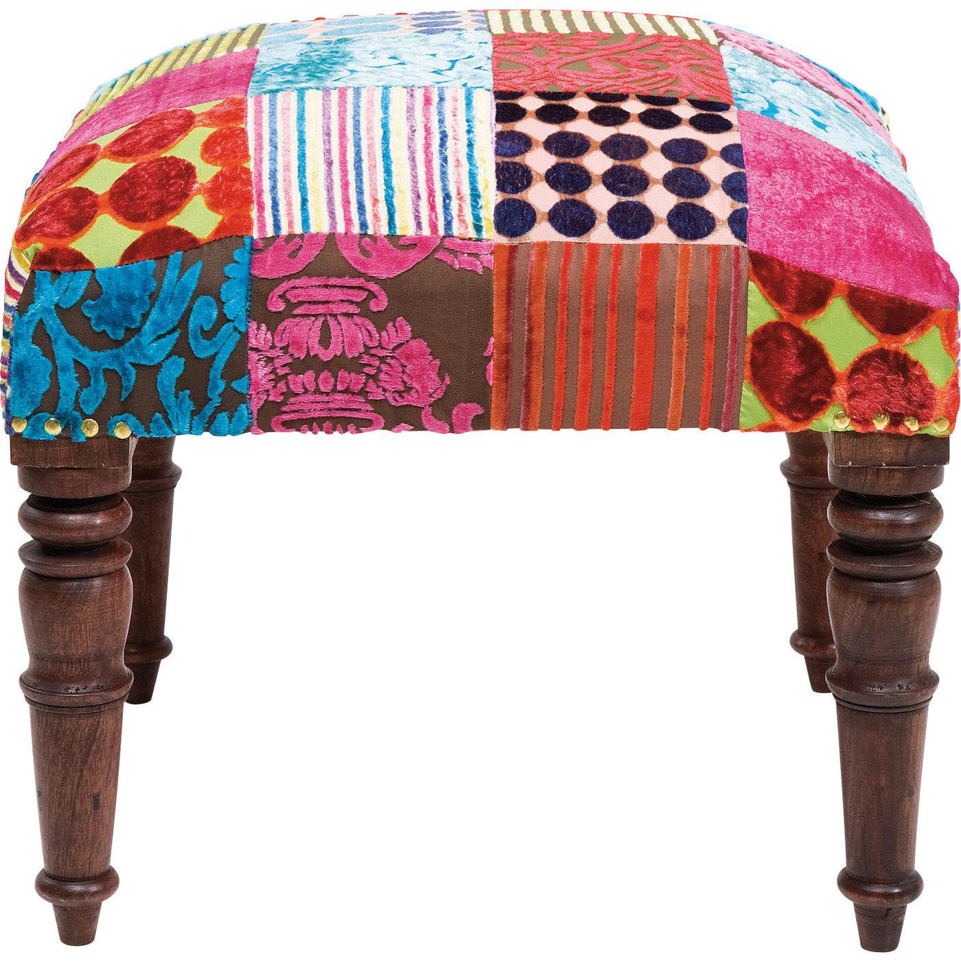 hocker patchwork velvet. Black Bedroom Furniture Sets. Home Design Ideas